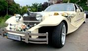 Прокат лимузинов. Автомобиль на свадьбу: Кабриолет,  Хаммер,  Лимузин,  Ретро,  Микроавтобус. Евпатория,  Саки. Крым