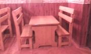 Продам комплект деревянных столов и лавок