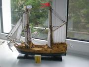 Мини модель корабля пакетбот Петра I