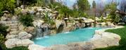 1)Искусственные скалы,  искусственные водоемы,  искусственные водопады.