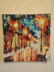 Картина на стекле Аллея