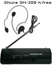 Shure SH-200 h-free с радиомикрофоной гарнитурой цена 350грн.