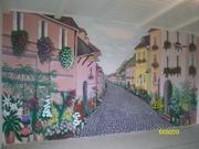 Настенная и потолочная роспись ресторанов