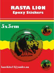 Наклейка Rasta lion