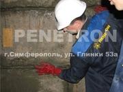 Пенекрит - мощный материал для гидроизоляции швов,  стыков в бетонных конструкциях.