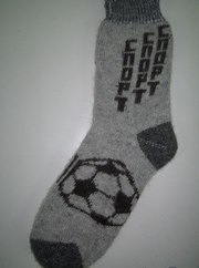 Натуральные шерстяные носки и варежки