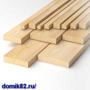 Сухой пиломатериал и погонаж с доставкой по Крыму